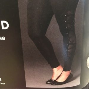 Black lace up leggings!!!